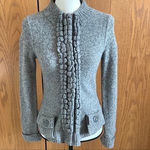 Anthro Moth Floating Sparks Grey Sweater Sz-XS